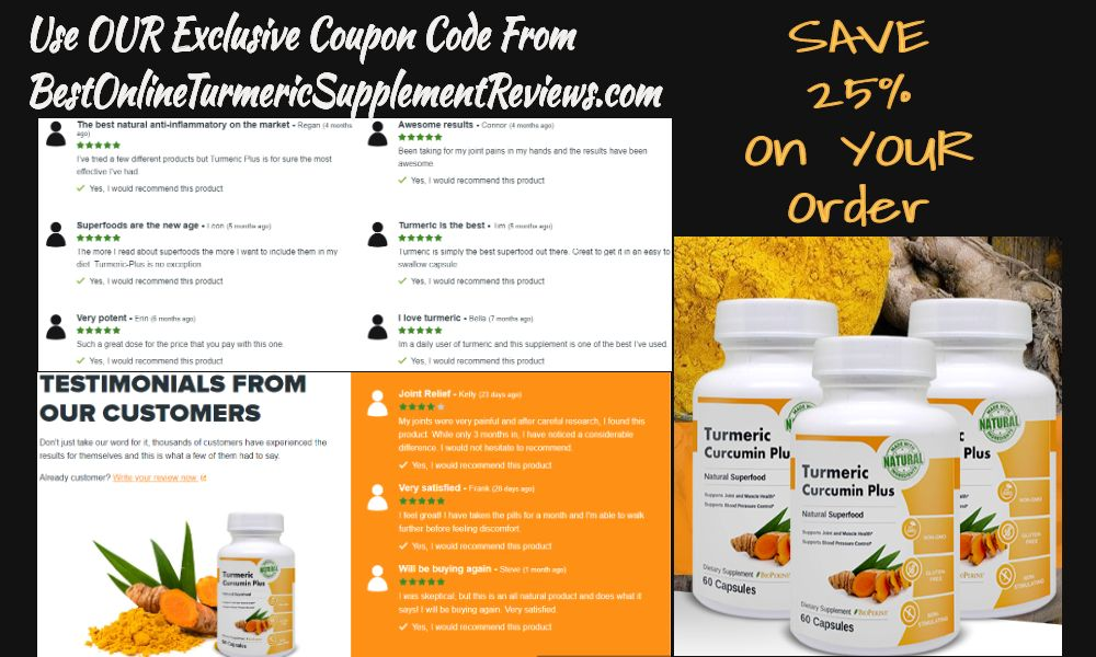 Turmeric curcumin plus customer reviews and testomoials