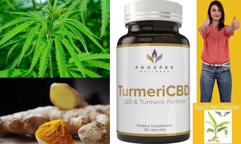 CBD and Turmeric capsules review for prosper wellness turmericbd