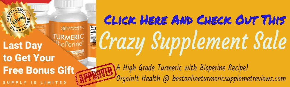 The best online Turmeric with bioperine supplement sale offer details
