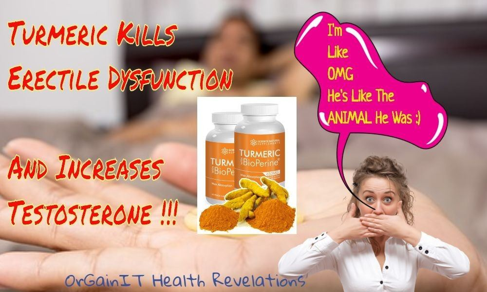 is turmeric good for erectile dysfunction good with a supplement