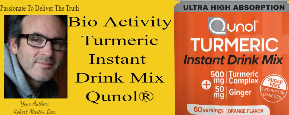 Author Intro and initial qunol turmeric drink mix product show case
