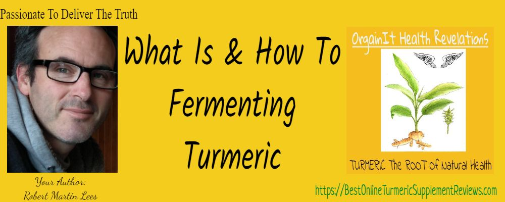 Robert Lees Presenting fermented turmeric benefits and how to methods and guidelines.